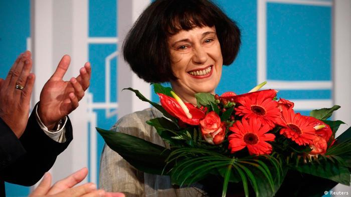 Olga Martynova with roses