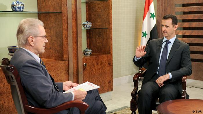 لقاء يورغن تودنهوف مع الرئيس السوري بشار الأسد عام 2012