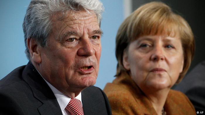 Merkel Bundespräsident Gauck Archiv