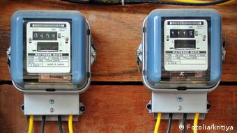 A row of electric meters