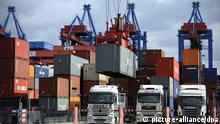 Symbolbild Container Export Deutschland (picture-alliance/dpa)