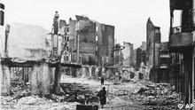 The ancient Basque village of Guernica is shown after an unprovoked attack by German Luftwaffe on April 26, 1937, in which 1,700 of the 5,000 inhabitants were killed. (ddp images/AP Photo)