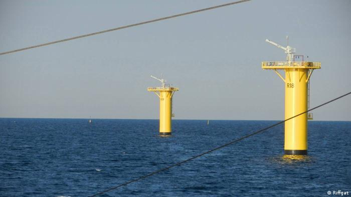 offshore wind energy plant under construction