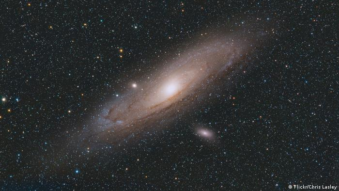 Andromeda nebula in space (Copyright: Flickr/Chris Lasley)