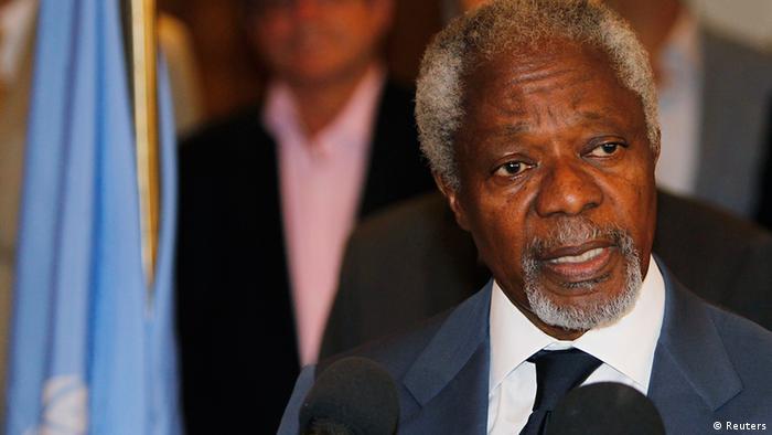 UN Syria peace envoy Kofi Annan in Damascus
