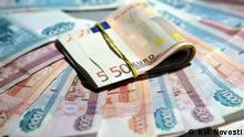 Russland Währung Euro und Rubel