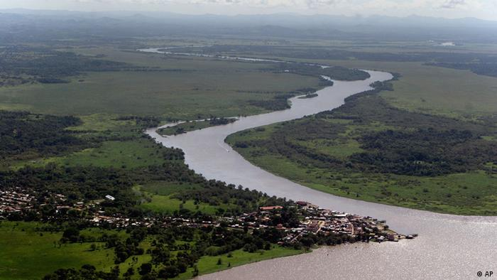 A view of the Rio San Juan zone bordering Costa Rica, 430 km south of Managua, Nicaragua