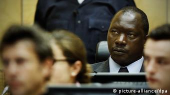 Thomas Lubanga während des Prozesses im Internationalen Strafgerichtshof