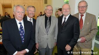 Five plaintiffs in the case: Wilhelm Hankel , Wilhelm Noelling, Karl Albrecht Schachtschneider, Joachim Starbatty and Bruno Bandulet
