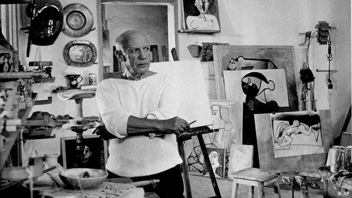 Pablo Picasso in his studio in France (AP)