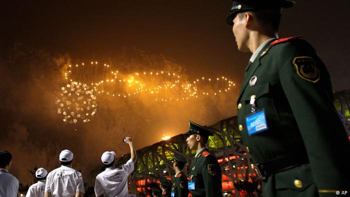 2008 Beijing Olympics firework in Beijing