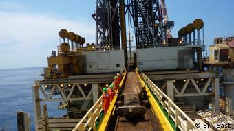 Photo of an oil exploration platform in Mozambique