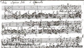 Composition by Johann Sebastian Bach
