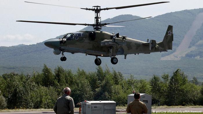 Российский вертолет Ка-52 (фото из архива)