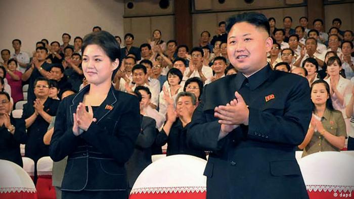 Kim Jong Un mit Begleiterin