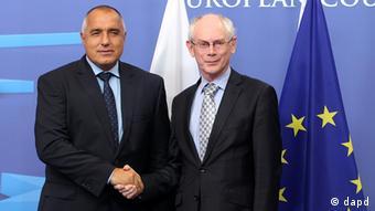 EU Bulgarien Ministerpräsident Boiko Borissow bei Herman Van Rompuy in Brüssel