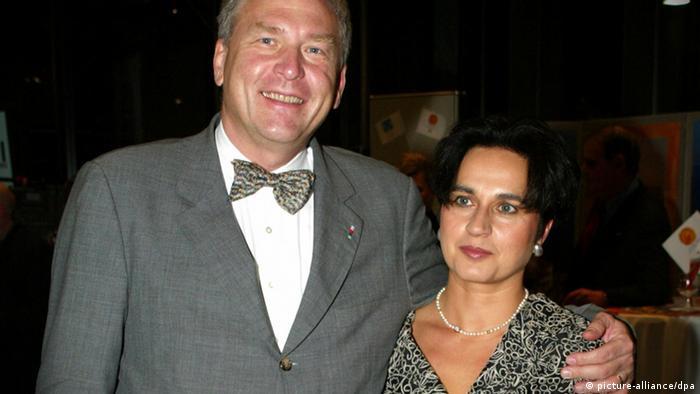 فردوس فرودستان به همراه همسرش، میشائیل وسپر