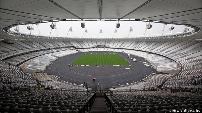 A view of the inside of London's new Olympic Stadium, a major venue at the Games