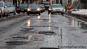 potholes in street