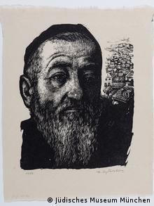 Kopf eines Juden, Holzschnitt von Fiszel Zylberberg, 1937 (Foto: Sammlung Julius Genss Courtesy/ Jüdisches Museum München)