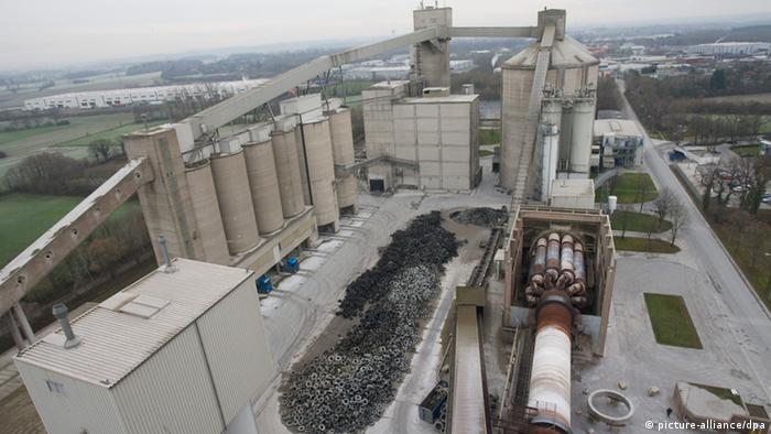Cement factory in Ennigerloh, southern Germany