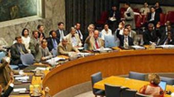 Abstimmung im UN Sicherheitsrat