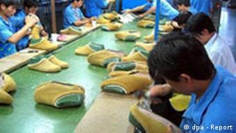 Schuhfabrik in China