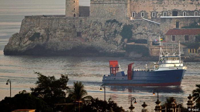 Kuba - Erstes US Schiff seit über 50 Jahren fährt in den Hafen.