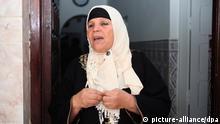 Manoubia Bouazizi Mutter des tunesischen Gemüsehändlers dessen Selbstverbrennung Auslöser der Revolution in Tunesien 2010/2011 war