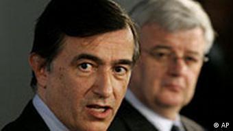 Philippe Douste-Blazy bei Joschka Fischer