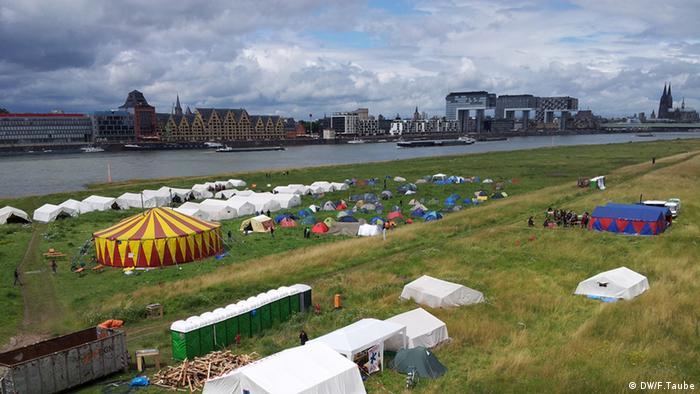 No Border Camp 2012 in Köln gegen die deutsche Abschiebepolitik