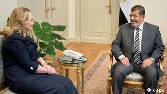 Ägypten Außenministerin Hillary Clinton trifft Präsident Mohammed Mursi