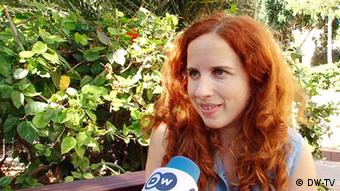 Journalist Stav Shaffir in an interview