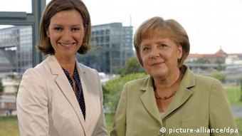 Angela Merkel dhe Bettina Schausten.
