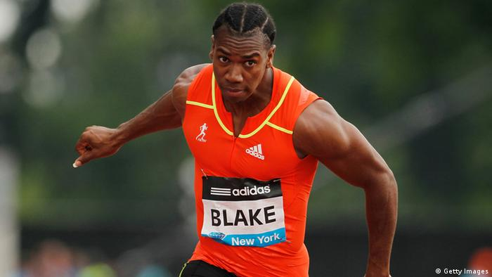 Yohan Blake of Jamica races en route to winning the Men's 100m National Race during the adidas Grand Prix at Icahn Stadium on Randall's Island on June 9, 2012 in New York City.