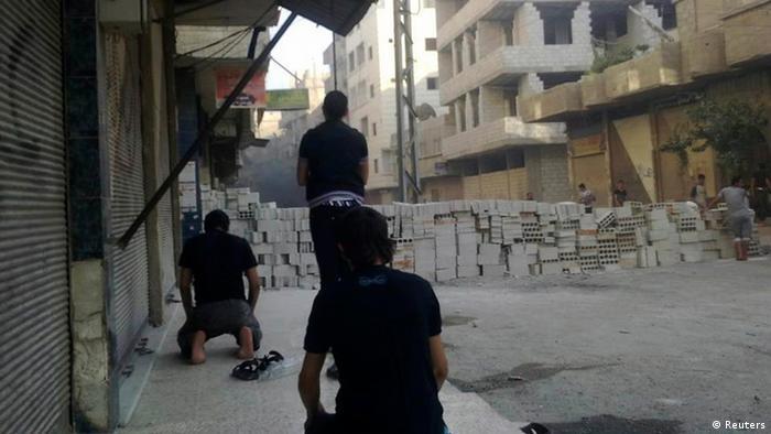 تصویری از گسترش بحران سوریه به خیابانهای پایتخت