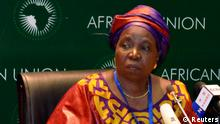 South African Home Affairs Minister Nkosazana Dlamini-Zuma addresses the media during the leaders meeting at the African Union (AU) in Addis Ababa July 15, 2012. African leaders brought together the presidents of feuding neighbours Sudan and South Sudan on Saturday and fleshed out a plan for military intervention in northern Mali where they said al Qaeda-linked rebels threatened the continent's security. REUTERS/Tiksa Negeri (ETHIOPIA - Tags: SOCIETY POLITICS)