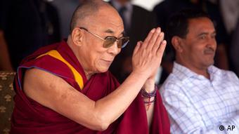 Geistliches Oberhaupt der Tibeter: Dalai Lama, hier in Srinagar (foto: AP/dapd)