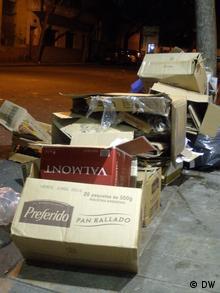 Cardboard waste (photo: Eilís O'Neill)