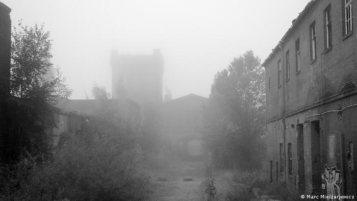 Slaughterhouse covered in fog