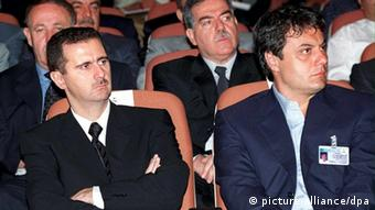 Baschar al-Assad und General Manaf Tlass (Foto: dpa)