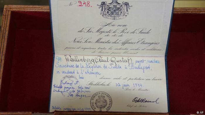 Diplomatska putovnica Raoula Wallenberga