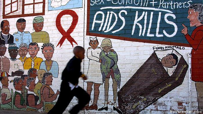 Aids-Wandbild in Soweto (Foto: picture-alliance/dpa)