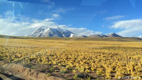 Blick aus meinem Fenster in San Pedro Chile von Sofia Garcia