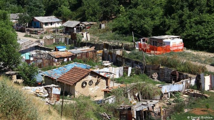 Informelle Roma Siedlung Belgrad Serbien