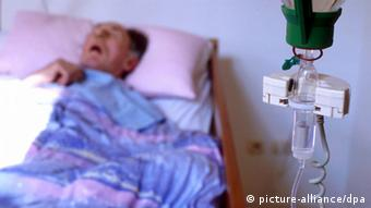 A terminally ill patient in a hospice
