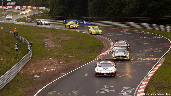 Cars taking part in the recent 24-hour race at the Nürburgring