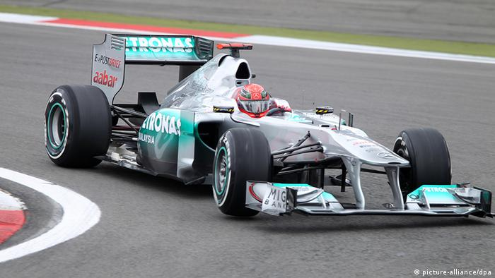 Michael Schumacher u Mercedesu na Nürburgringu 2011.