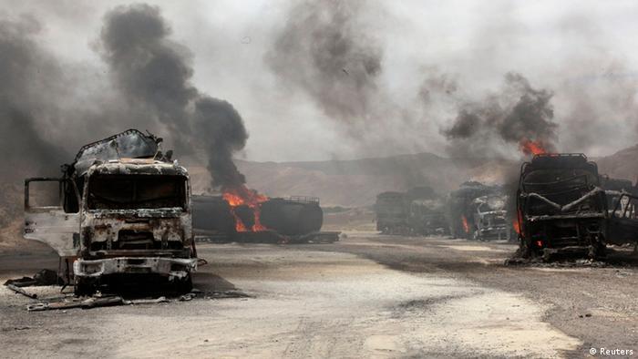 Afghanistan NATO Tanklaster Bombe