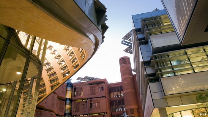 Die Bibliothek von Masdar City in einer Entwurfsgrafik (Foto: AP)